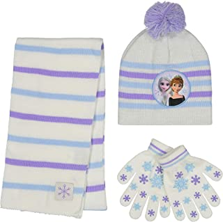Girls' Frozen 2, Elsa and Anna Kids Winter Beanie Hat,...