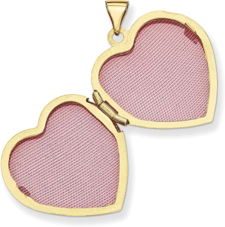 14k Yellow Gold Heart Locket 26x22mm