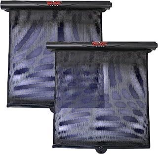 AutoMuko Car Window Roller Shade Retractable Car Sunshade for Side Window - Blocks Harmful UV Rays and Offers Effective Su...