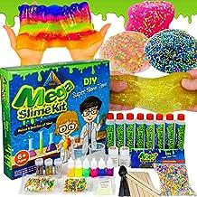 OzBSP Mega Slime Kit. Slime Making Kit for Boys Girls Kids. DIY Slime Kit with Everything to Make 8 Batches of Slime. Clea...