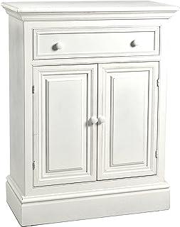 Vilys House Aparador con Dos Puertas y un cajón en Madera Estilo Provenzal Color Blanco