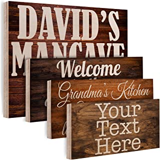 Generic Personalized Wood Signs for Gift - Customized Wooden Board, Plank Decoration Gifts Custom Family Sign, Name Date H...