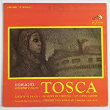 Puccini: Highlights from Tosca: Leontyne Price; Giuseppe di Stefano; Gieseppe Taddei; Herbert Von Karajan conducts the Vienna Philharmonic Orchestra (Vinyl Lp)
