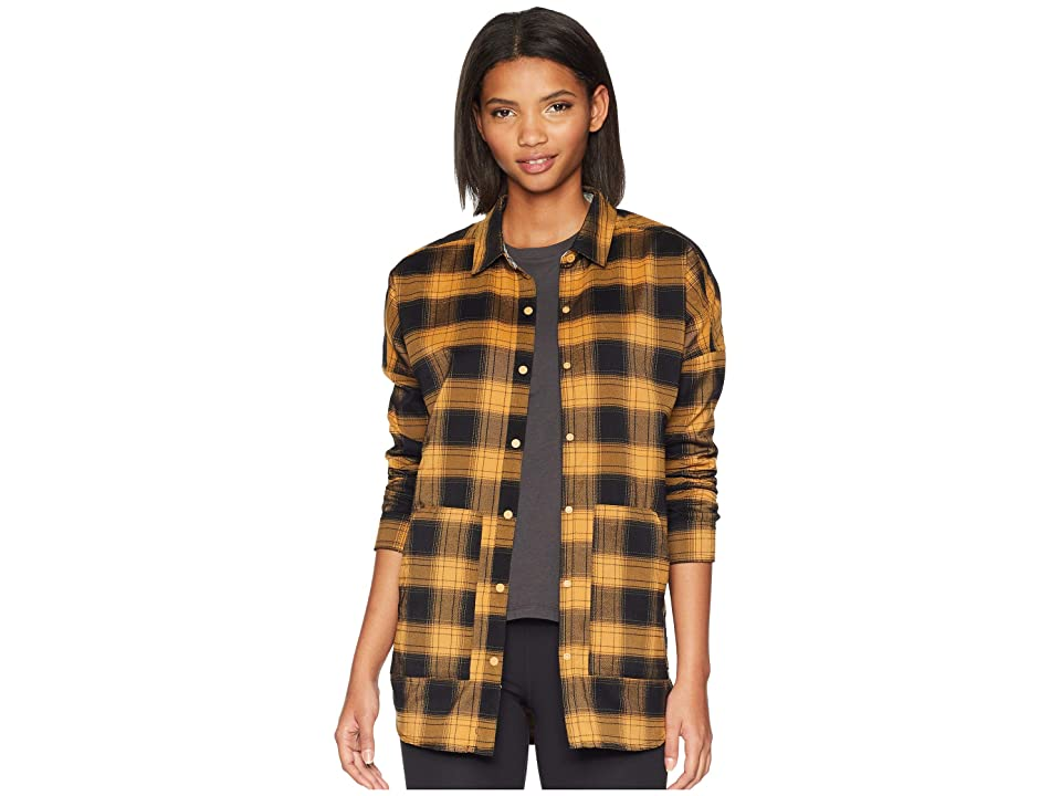 Burton Teyla Flannel Long Sleeve T-Shirt (Camel Muirwoods Plaid) Women