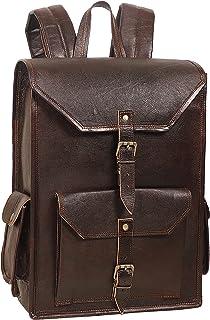 Handmade World Vintage Full Grain 16 Inch Leather Laptop Backpack Casual Bookbag Daypack Camping Travel Rucksack Knapsack ...