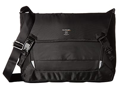 Hedgren Connect Link Tie 15 Messenger (Black) Messenger Bags