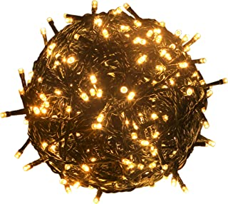 RPGT 1000 LEDs 336ft Green Cable Wire Fairy String Tree Twinkle Lights 8 Modes for Christmas Party, Outdoor, Garden, Wedding, Home Decoration (Warm White)