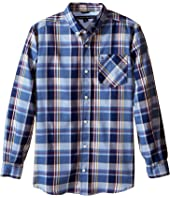 Tommy Hilfiger Kids - Kingsley Woven Long Sleeve Shirt (Big Kids)