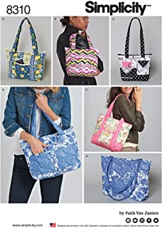 Simplicity Creative Patterns US8310OS Quilted Bags in Three Sizes Pattern, One Size (One Size)