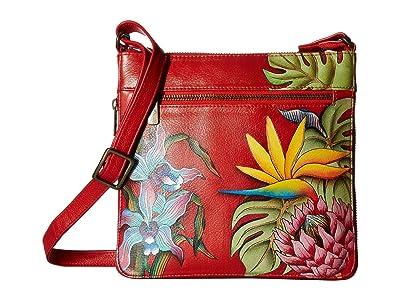 Anuschka Handbags Expandable Travel Crossbody 550 (Island Escape) Handbags