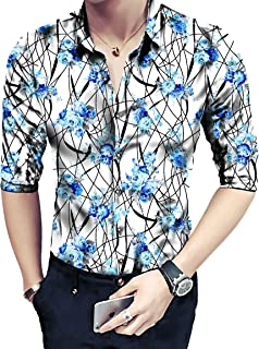 Shirt for Men Floral Digital Printed Un Stitched Shirt 2.4 MTR