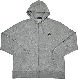 95767db8 Polo Ralph Lauren Men's Big & Tall USA Basketball Polo Bear Full Zip Fleece  Hoodie Sweater