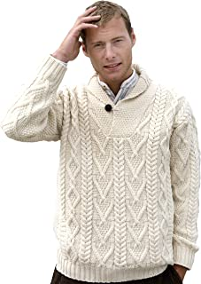 YUNY Men Solid Colored Knit V Neck Comfort Simplicity Pullover Sweater White 2XL
