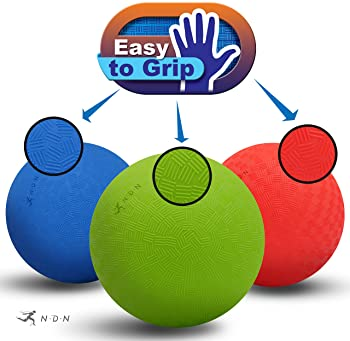 NDN LINE Dodgeballs | Playground Balls for Schools | Kickballs for Kids | Pump Included | 5/8 Inches