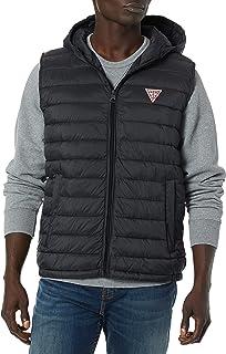 GUESS Men's Light Weight Puffer Vest with Hood