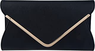 Bagood Leather Envelope Clutches Bag for Women Evening Handbags Shoulder Bags