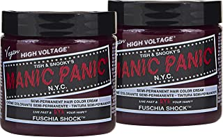 Manic Panic Fuchsia Shock Hair Color Cream (2-Pack) Classic High Voltage Semi-Permanent Hair Dye - Vivid, Magenta Shade For Dark, Light Hair – Vegan, PPD & Ammonia-Free - Ready-to-Use, No-Mix Coloring