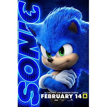 Amazon Com Mcposters Sonic The Hedgehog Movie 2019 Glossy Finish Movie Poster Certified Print By Postertodayusa Cin018 24 X 36 61cm X 91 5cm Posters Prints