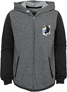 MLS by Outerstuff Bottom Pill Performance Hoodie Charcoal Grey 14 Youth Girls Large