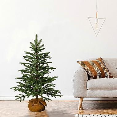 National Tree Company 'Feel Real' Artificial Mini Christmas Tree   Includes Cloth Bag Base   Norwegian Seedling - 3 f