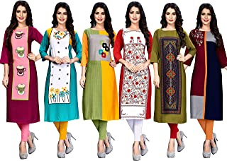 Pop Mantra Women's crepe straight Kurta