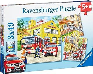 Ravensburger 94011 Fire Brigade Run Puzzle 3x49pc,Children's Puzzles