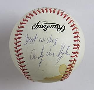 Andy Van Slyke Signed Auto Autograph Rawlings Baseball B116
