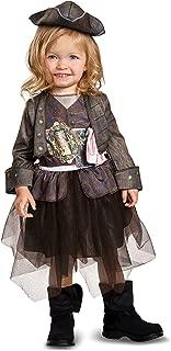 Disguise POTC5 Captain Jack Sparrow Inspired Tutu Classic Toddler Costume, Multicolor, Medium (3T-4T)