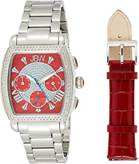 JBW Womens Quartz Watch, Analog Display and Stainless Steel Strap J6376E