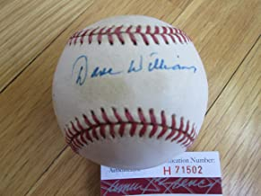 DAVEY or DAVE WILLIAMS Signed N.L. Baseball -JSA Authenticated #H71502
