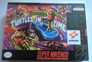 Teenage Mutant Ninja Turtles IV: Turtles in Time (Super Nintendo, SNES) - Reproduction Video Game Cartridge with Universal Game Case and Glossy Manual
