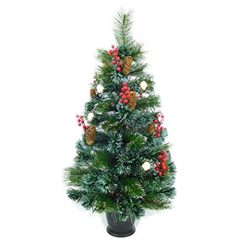 fe10c56c8091 Christmas Concepts® 3ft (90cm) Pre Lit Frosted Fibre Optic Christmas Tree  With Natural