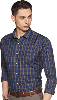 Amazon Brand - Symbol Men's Checkered Slim Fit Full Sleeve Formal Shirt