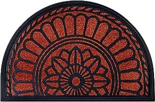 "Best MIBAO Half Round Door Mat, Non-Slip Welcome Entrance Way Rug, Durable Rubber Door Mats, Low-Profile Heavy Duty Doormat, Half Circle Rugs for Garage, Patio, High Traffic Areas, 24"" x 36"", Maroon Review"