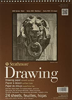 "Strathmore 400-104 400 Series Drawing, Smooth Surface, 9""x12"" Wire Bound, 24 Sheets"