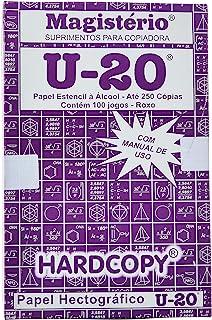 Hardcopy HC101, Papel Hectografico, Matriz U-20, 22 x 33 cm, Multicor, Pacote de 100
