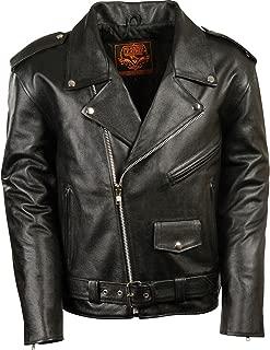 Men's Classic Police Style M/C Jacket - Lkm1781-Black