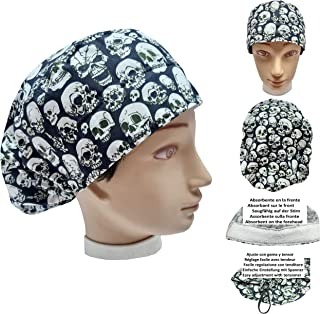 Cappelli chirurgico TESCHI per Capelli Lunghi. Infermieristica Dentisti. Veterinaria Cucina. Ecc. Asciugamano davanti, reg...
