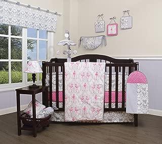 GEENNY 13 Piece Boutique Baby Nursery Crib Bedding Set, Flamingo Bird, Multi-Colors, Crib
