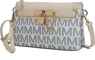 MKF Crossbody Bags for Women, Wristlet Strap – PU Leather Shoulder Handbag – Small Pocketbook Messenger Purse