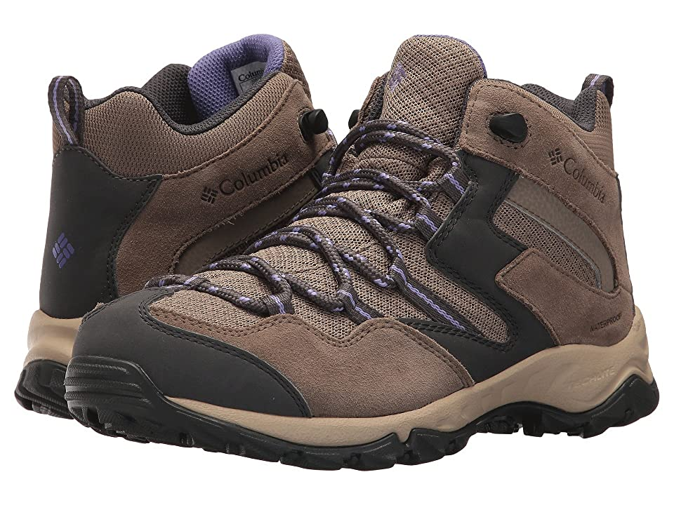 Columbia Maiden Peaktm Mid Waterproof (Wet Sand/Purple Aster) Women