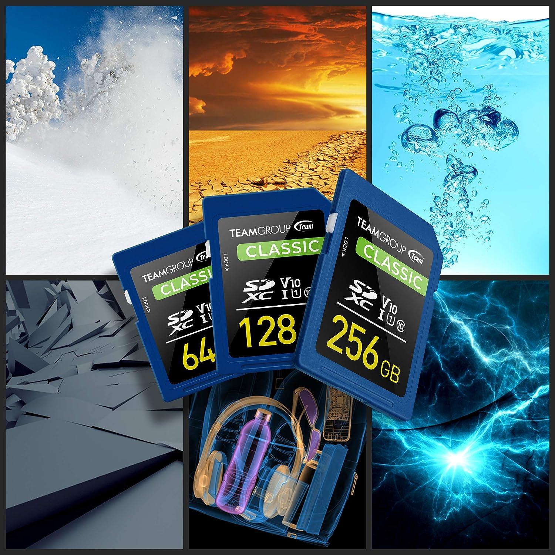 TEAMGROUP Classic 64GB UHS-I/U1 SDXC Memory Card U1 V10 Read Speed up to 80MB/s for Full-HD Video Recording & Photo Shooting TSDXC64GIV1001