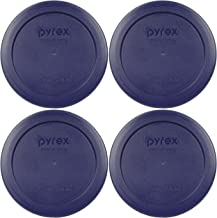 Pyrex 2 Cup Round Storage Cover #7200-PC for Glass Bowls (4, Blue)