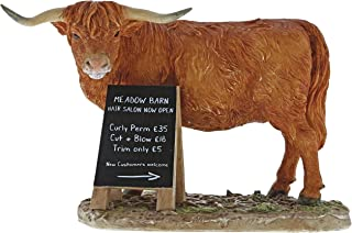 Kitchy and Co A29022 Meadow Barn Highland Cow Figurine
