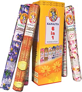Best Incense Variety Pack from India - 6 Varietals - 120 Sticks - Kaniaya Brand by TikkaLife Review