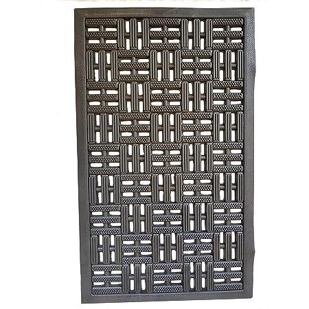 PROGOM - Paillasson Caoutchouc Noir - 75 x 45 x 1.2 cm