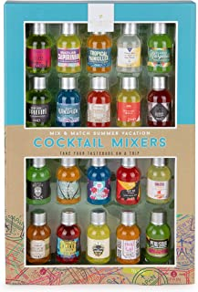 Thoughtfully Gifts, Mix and Match Cocktail Mixer Mini Sampler, Flavors Include Appletini, Blue Hawaiian, Margarita and Mor...