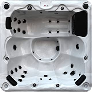 Canadian Spa Company Winnipeg Plug & Play 35-Jet 6 Person Hot Tub with LED Lighting and Pop-up Speakers