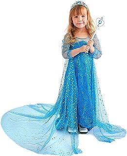 فستان الأميرة سنو كوين بنمط فراشة، زي للفتيات الصغار مع الأناقة والراحة