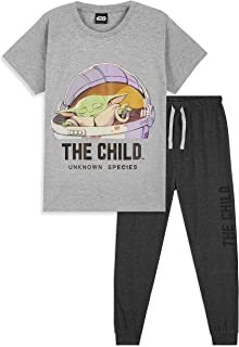 Disney Star Wars Baby Yoda Kids PJs, Boys And Girls Pyjamas For Children Age 7 To 14 Years, Gifts For Teenage Boys And Gir...